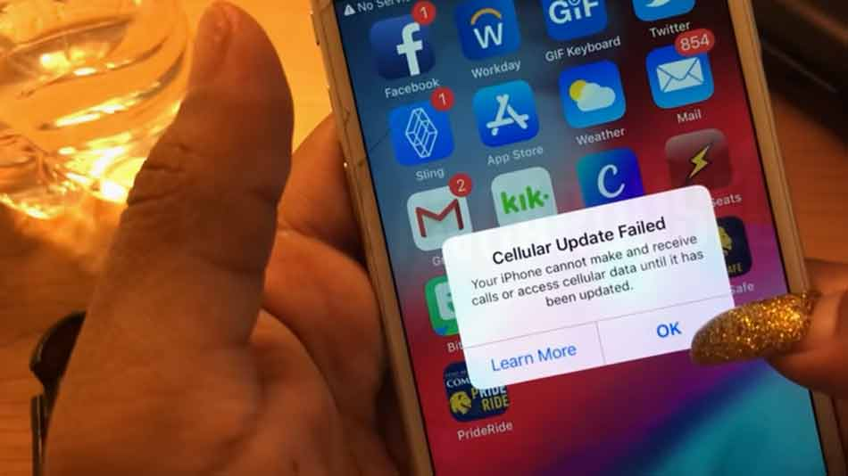How To Fix Cellular Update Failed Error on iOS Devices